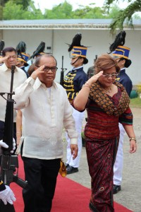 De Lima as Hermana Mayor at St. Therese Feast